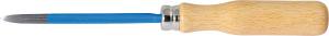 Precision engineer's scraper with wooden handle