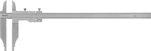 Workshop vernier calipers with parallax-free reading and fine adjustment 300 mm