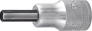 Hexagon screwdriver bit 1/2 inch 4 mm