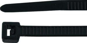 Cable tie set T-Tie, black 2,5 mm