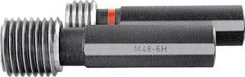 """DAkkS calibration """"Go"""" / """"No Go"""" thread plug gauge 90 mm"""