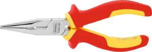Snipe nose pliers, straight VDE insulated 160 mm