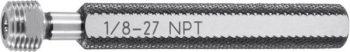 "DAkkS calibration ""Go"" / ""No Go"" taper thread plug gauge NPT 90 mm"