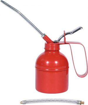 Machine oil can with 2 different discharge tubes 250 ml